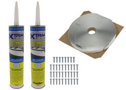 Roof Vent Installation Kit - Sealant, Butyl Tape, Screws - White