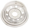 "Taskmaster Steel Modular Trailer Wheel - 13"" x 4-1/2"" Rim - 5 on 4-1/2 - Silver PVD Finish Better Rust Resistance 345545MSPVD"