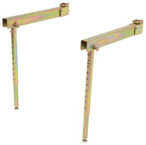 Cargosmart Folding Track Brackets W Telescoping Legs For