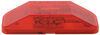 Bargman Trailer Clearance or Side Marker Light w/ Reflector - Incandescent - Rectangle - Red Lens Red 3499001