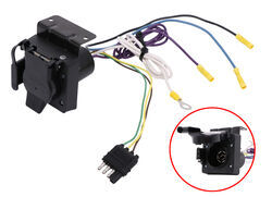 Adapter 4-Pole to 7-Pole and 4-Pole on trailer brakes, trailer plugs, trailer generator, trailer fuses, trailer hitch harness, trailer mounting brackets,