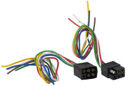6-Pole Square Trailer Wiring Connector Kit (Car and Trailer Ends)