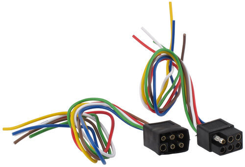 recommended replacement wiring for dutchman duck 6 pole square trailer wiring connector kit car and trailer ends