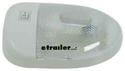 Blazer RV Interior Dome Light with On/Off Switch - LED - 2 Wire - Aero Style - White