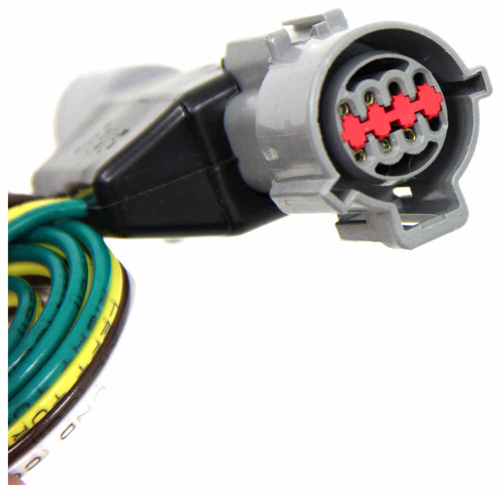 Hopkins Plug-In Simple Vehicle Wiring Harness with 4-Pole Flat ...