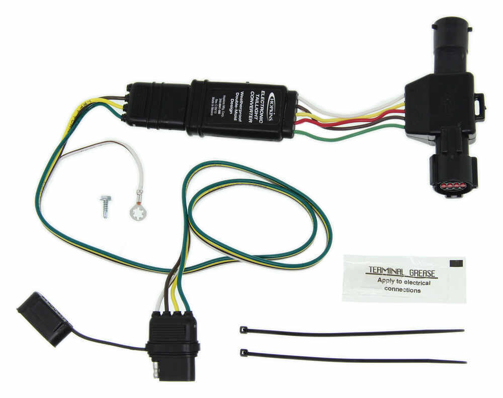 Hopkins Plug In Simple Vehicle Wiring Harness With 4 Pole Flat Trailer 5 Wire Diagram Connector Custom Fit 40215