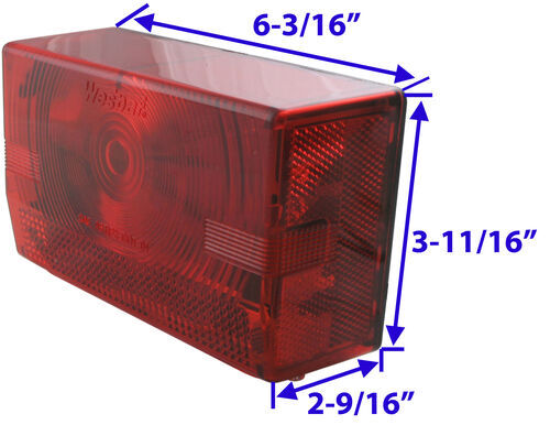 Wesbar 403075  Taillight Submersible Lite Right Hand