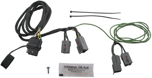 40505_500 hopkins plug in simple vehicle wiring harness with 4 pole flat Trailer Wiring Connector at bayanpartner.co