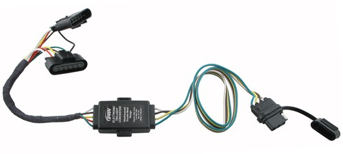 Hopkins PlugIn Simple Vehicle Wiring Harness with 4Pole Flat