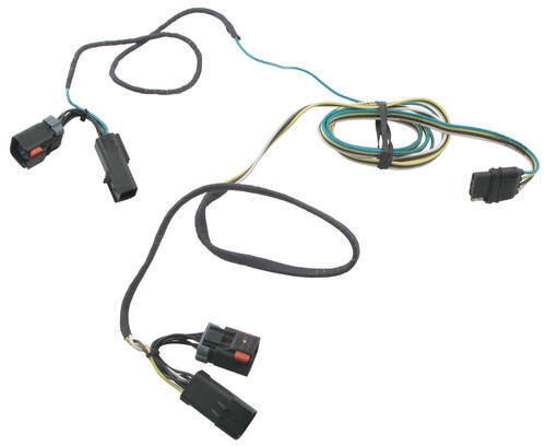 42235_500 hopkins plug in simple vehicle wiring harness with 4 pole flat Chrysler Town Country Aftermarket Accessories at edmiracle.co