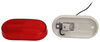 Peterson Clearance or Side Marker Trailer Light w/ Reflector - Incandescent - Oblong - Red Lens 4L x 2W Inch 423000