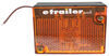 peterson trailer lights clearance non-submersible and side marker light w/ reflector - incandescent rectangle amber lens