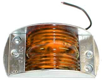 Rv Led Lights >> Peterson Steel Armored Clearance and Side Marker Light - Amber Peterson Trailer Lights 424000