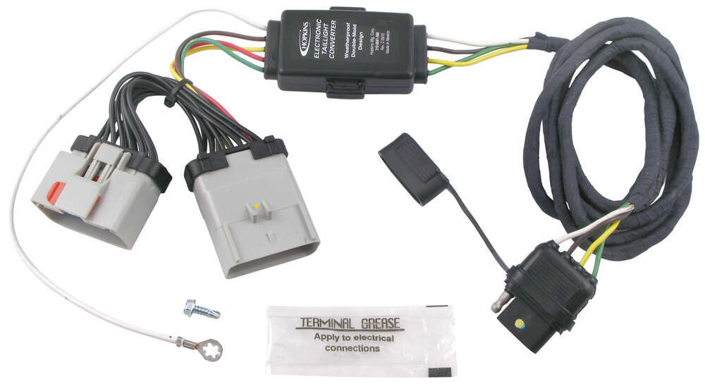 hopkins plug in simple vehicle wiring harness with 4 pole flat rh etrailer com 2003 jeep wrangler trailer wiring harness 2003 jeep wrangler hardtop wiring harness