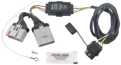 trailer wiring harness options for a 2002 jeep liberty etrailer com hopkins plug in simple vehicle wiring harness 4 pole flat trailer connector
