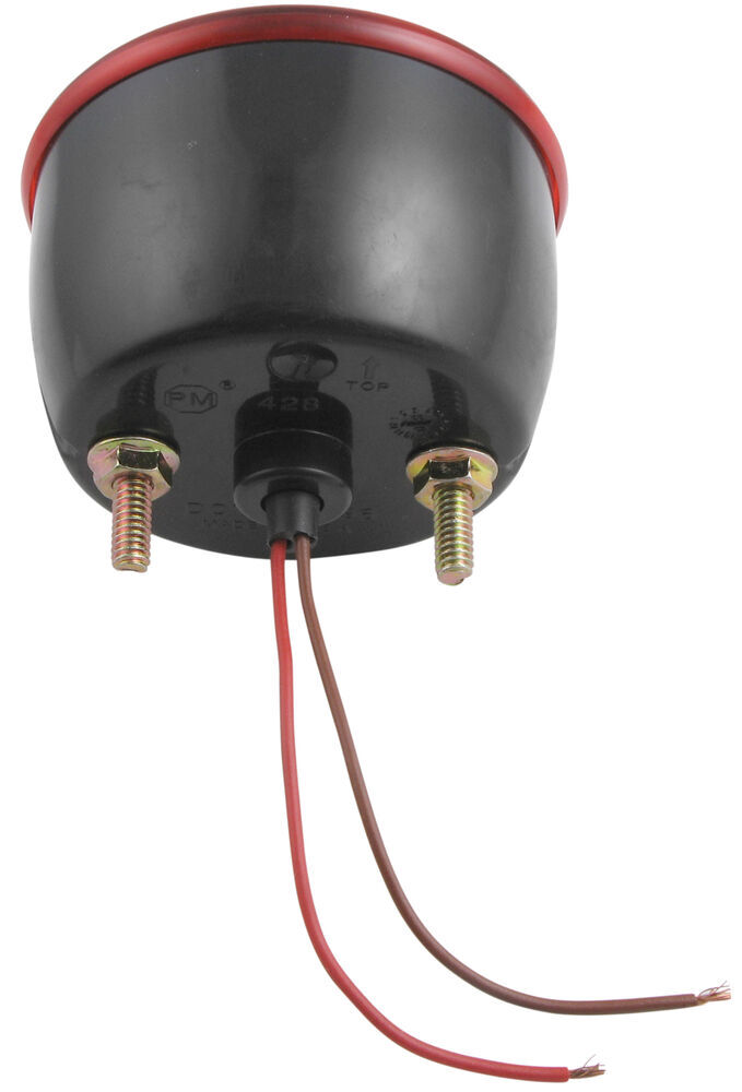 Peterson Round Trailer Tail Light  2 Stud Mounting  Right