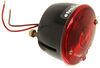 Peterson Round Trailer Tail Light with License Plate Light, 2 Stud Mounting, Left Hand