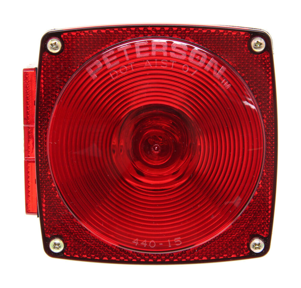 Peterson Square Trailer Tail Light 7 Function Left Hand Way Wiring Diagram Lights 432400