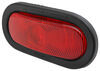 peterson trailer lights tail submersible light kit - waterproof stop turn incandescent oval red lens