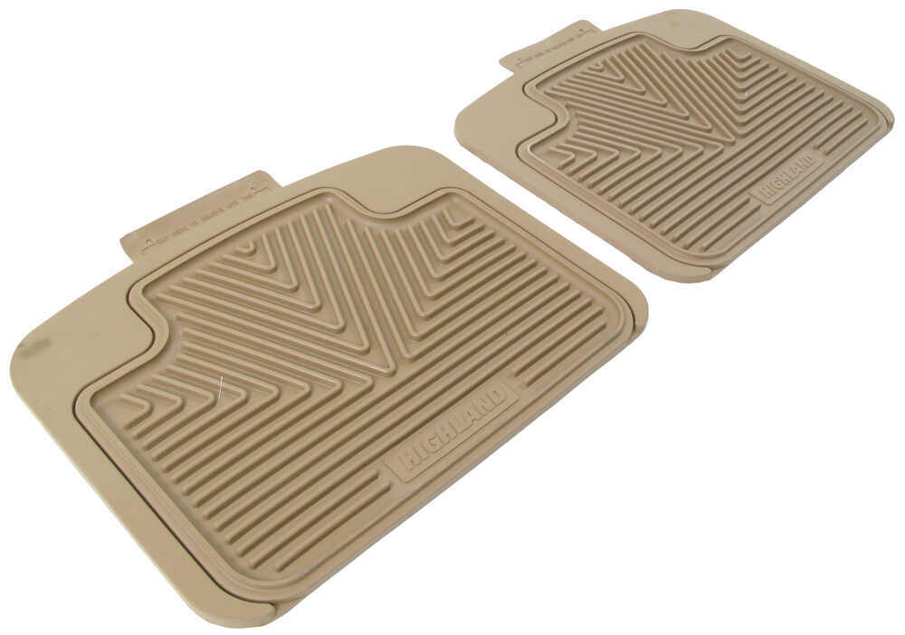 Auto Floor Mats All Weather Car Truck Suv Tan 2 Pc