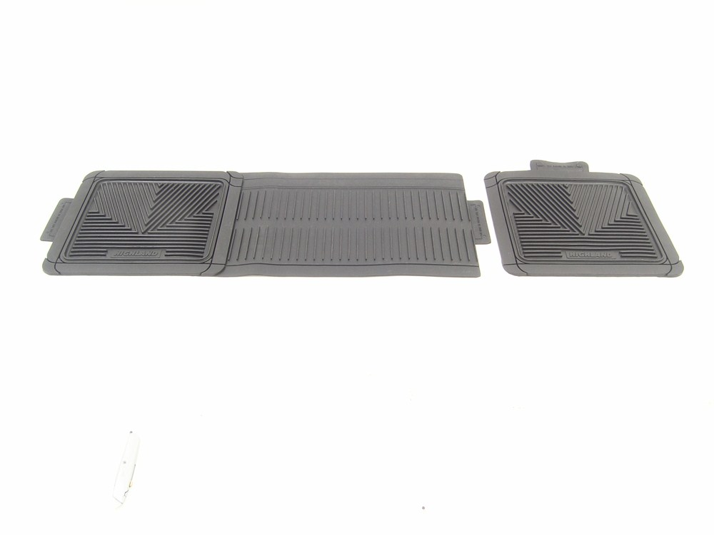 Adjustable one piece look all weather rear mats grey for 1 piece floor mats