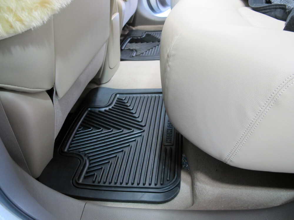Auto Floor Mats All Weather Car Truck Suv Black 2 Pc