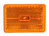 Trailer Clearance or Side Marker Light w/ Reflex Reflector - LED - 1 Diode - Amber Lens - White Base