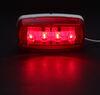 bargman trailer lights clearance rear side marker led or light - 4 diodes rectangle red lens