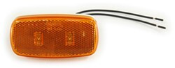 Bargman LED Clearance/Side Marker Light - 59 Series - Amber - White Base