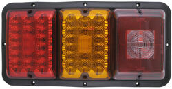 Bargman Triple Tail Light - 84, 85 Series - Red and Amber LED, Incandescent Backup - Black Base