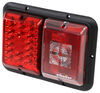 Bargman LED Double Tail Light - 5 Function - 18 Diodes - Black Base - Red and Clear Lens 10L x 7W Inch 47-84-008