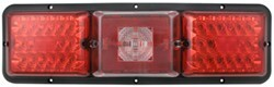 Bargman Triple, Long Tail Light - 84, 85 Series - Red LED, Incandescent Backup - Black Base