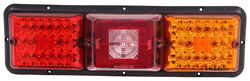 Bargman Triple, Long Tail Light - 84, 85 Series - Red, Amber LED; Incandescent Backup - Black Base