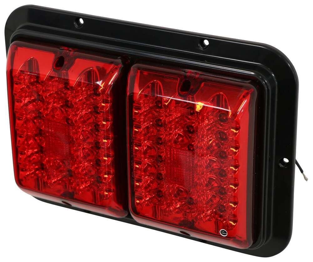Bargman Led Double Trailer Tail Light Stop Turn 36 Diodes 1962 Ford Truck Brake Lamp Wiring Black Base Red Lens Lights 47 84 610