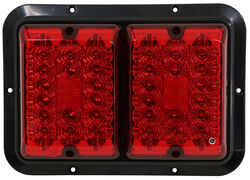 Bargman LED Double Trailer Tail Light - Stop, Tail, Turn - 36 Diodes - Black Base - Red Lens