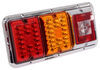 LED Triple Trailer Tail Light - 4 Function - 36 Diodes - Chrome Base - Red, Amber, and Clear Lens Red/White/Amber 47-85-004