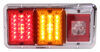 LED Triple Trailer Tail Light - 4 Function - 36 Diodes - Chrome Base - Red, Amber, and Clear Lens Non-Submersible Lights 47-85-004