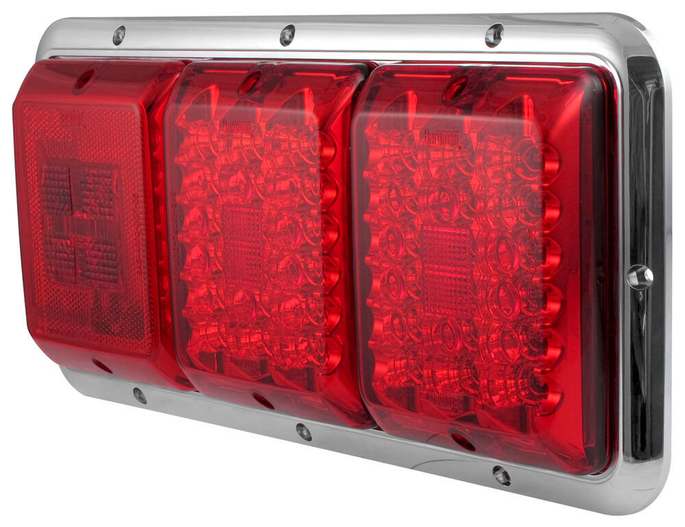 Bargman Triple Tail Light 84 85 Series Red Led Red