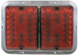 Bargman LED, Surface Mount, Double Tail Light - 84, 85 Series - Red - Chrome Base