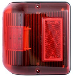 Bargman LED Wraparound Clearance/Side Marker Light - 86 Series - Red - Black Base