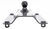 pro series gooseneck for fifth wheel rails fixed ball - offset 49080