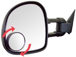 "Hot Spot Mirror 3-3/4"" Round Convex Stick On - Adjustable"