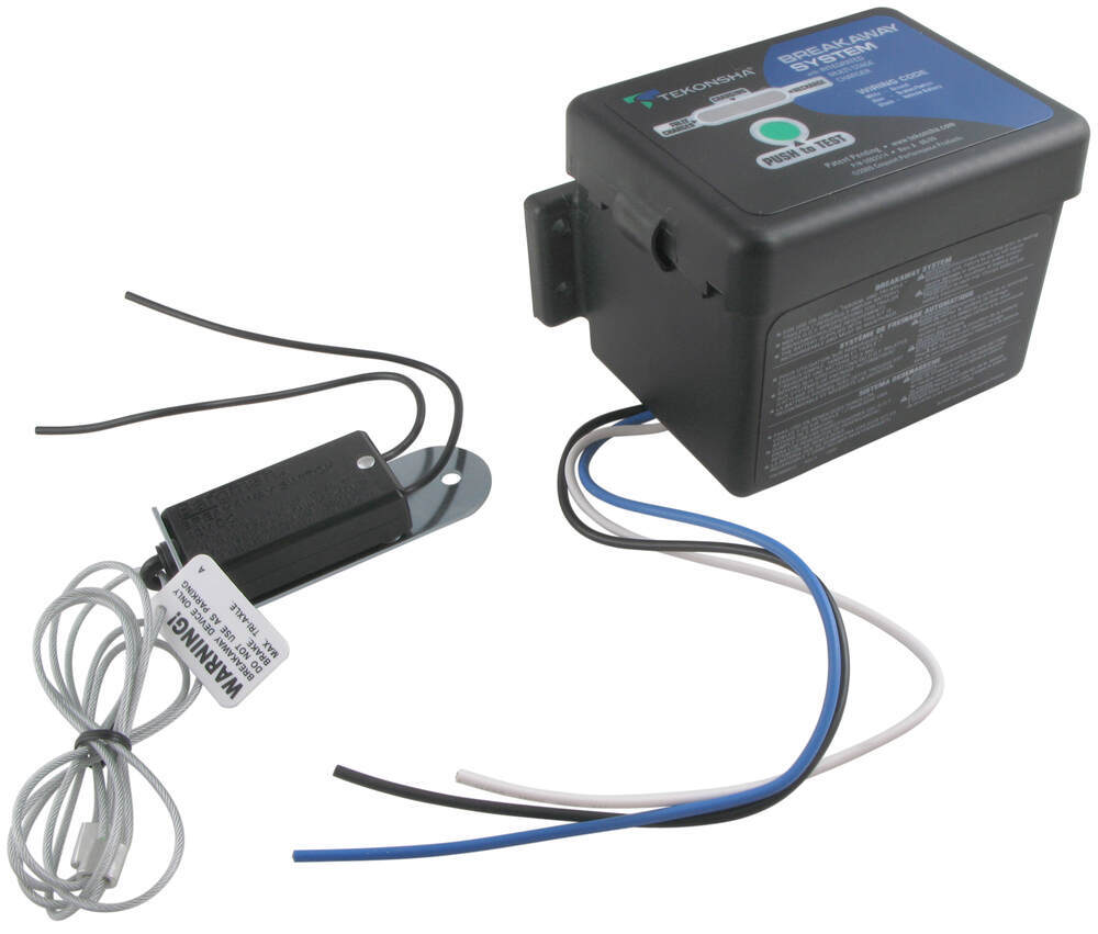 Compare Tekonsha Push To Test Vs Pro Series Trailer Breakaway Wiring Kit With Charger 50 85 313