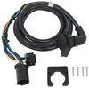 5th Wheel/Gooseneck 90-Degree Wiring Harness w/ 7-Pole Plug - GM, Ford, Ram, Toyota - 9' Long