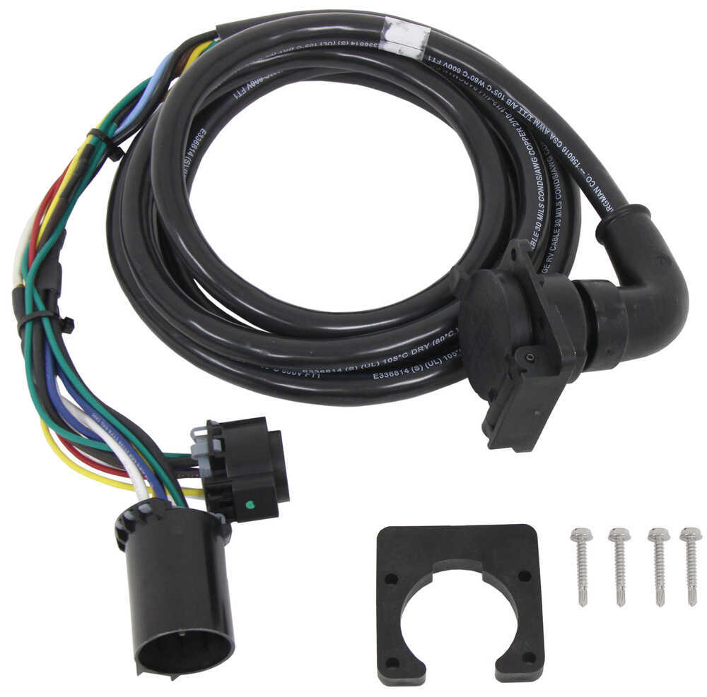 5th Wheel/Gooseneck 90-Degree Wiring Harness w/ 7-Pole