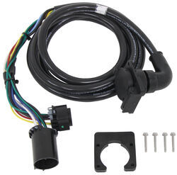 5th wheel gooseneck trailer wiring harness for 7 pole and 4 pole Golf Cart Wiring Harness 5th wheel gooseneck 90 degree wiring harness w 7 pole plug