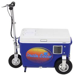 Cruzin Cooler Electric Scooter Cooler - 300 Watt - 24V - 25 Qts - Blue
