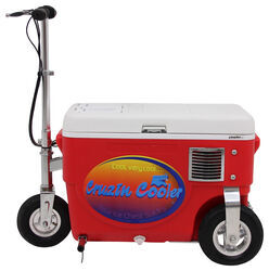 Cruzin Cooler Electric Scooter Cooler - 300 Watt - 24V - 25 Qts - Red