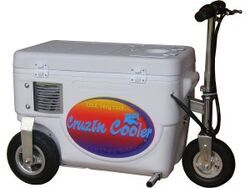 Cruzin Cooler Electric Scooter Cooler - 300 Watt - 24V - 25 Qts - White