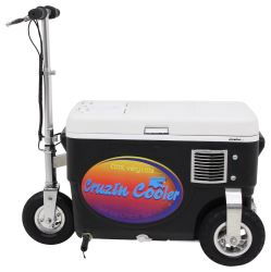 Cruzin Cooler Electric Scooter Cooler - 500 Watt - 24V - 25 Qts - Black